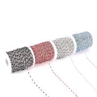 Ancho de 2 mm 2 M esmalte de acero inoxidable azul / negro / blanco / rojo / rosa Link Cadenas de cable para el collar de bricolaje Joyas haciendo hallazgos 1886 Q2