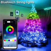 USB Peri Dize Işıkları Müzik Sync Renk RGB LED Şerit Bluetooth Uygulama Kontrol Bakır Tel Dizeleri Noel Partisi Düğün