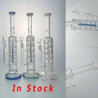 11 pouces verre bong en ligne perc pure bangs 14.mm femelle hétéro-tubes narhashs huiles dab plate plate tuyaux d'eau d'oeuf