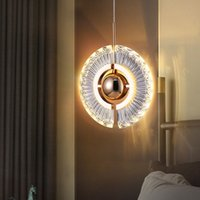 Crystal  pendant lamp bedroom bedside small chandelier personality creative Nordic style designer restaurant bar atmosphere light R324