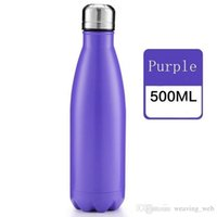 AU cola shaped bottle 500ML Vacuum Insulation Cup sports bottles 304 Stainless Steel Bowling Shape Travel Mugs students kids 49DG