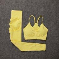 Athvotar Frauen Fitness Yoga Sets Neueste Nahtlose Sportanzüge Hohe Taille Gym Hosen Sportswear Workout BH + LeggingsSoccer Jersey