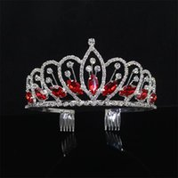 Hair Clips & Barrettes Fashion Pageant Bride Tiara Crown Accessories Wedding Jewelry Show Dress Headdress Queen Diadem Prom Beauty Party Wed