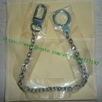 أعلى جودة حقيبة الملحقات الفولاذ سبيكة معدنية مفتاح سلسلة حامل سحر 2 اللون لاختيارك الذهب فضي للجنسين