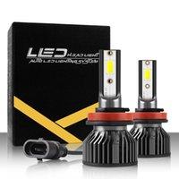 S6 H1 H3 H7 سيارة LED المصباح المصابيح المصابيح H8 / H9 / H11 9005 / HB3 / H10 6500K 9-36V العالمي السيارات المصابيح الأمامية DOB رقاقة السوبر سطوع H4 / HB2 / 9003