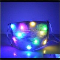 Led Glowing Masks Nightclub Luminous Halloween Light Up Half Face Mask Disco Party Mouth Cover Dda626 Ddqj9 Qgkbi