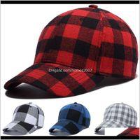 Festive Supplies Home & Garden11 Colors Plaid Designer Hats Caps Beanie Baseball Cap For Mens Womens Casquette Adjustable Party Design Hat Wx