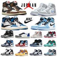 Jumpman 1s zapatillas de baloncesto para hombre air jordan 1 Travis Scott x Fragment University Blue UNC Dark Mocha Fearless Royal Toe Shadow hombre mujer zapatillas deportivas