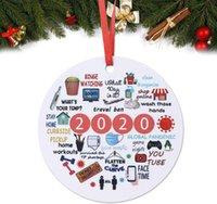 1 قطع 2020 المعلقات عيد الميلاد السنة من الحجر الصحي تذكار شجرة عيد الميلاد شنقا زخرفة