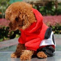 Dog Apparel 100pcs lot FEDEX Panda Style Pet Clothes Puppy Suit Wear XS S M L XL Size