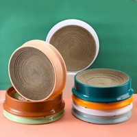 Cat Beds & Furniture Litter Compass Round Corrugated Scratch Board Toys Bed For Sleep Grinding