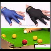 Игры для отдыха Спорт на открытом воздухе Drop Доставка 2021 Качество Спандекс Snooker Billiard Cue Glove Pool Левая Рука Открыть три пальца Аксессуар