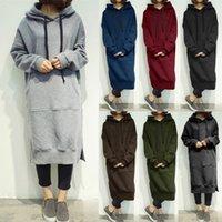 Mulheres S-5XL Primavera Casual Outono Pulôver Pullover Hoodies Capuz Plus Size Camisola Vestido Sólido Hoodies 6 Cores Superstriz Tops