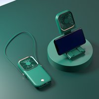 Multifunktionale Desktophalterung Faules Mann Hängender Hals Kleiner Fan Tragbare USB Handheld Faltbarer Power Bank Fan