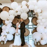104pcs White Giant Macaron Balloon Garland Arch Kit Wedding Ballons Bride Wedding Birthday Party Background Photography Decor