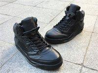 Hohe Qualität Jumpman 5s Pinnacle Schwarze Männer Basketball Designer Schuhe Top Material Off Union 5 Echtes Leder Sport Outdoor Sneaker Kommen Sie mit Box