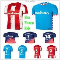 2020 2021 Joao Felix 마드리드 축구 유니폼 20 21 사울 Morata Correa Lemar Diego Costa Custom 20 21 성인 어린이 홈 멀리 축구 셔츠