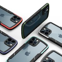 SHIELD HYBRID HYBRID Transparente acrílico acrílico para iPhone 12 11 Pro Max XR XS 8 7 6 PLUS SAMSUNG A12 A42 A52 A72 5G A01 Core A21S REDMI 9 9A 9C NOTE9S