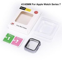 iWatch PC Hard Cases With Tempered Glass 38mm 41mm 45mm 42 mm 40mm 44mm For Apple Watch Series 7 6 5 4 3 2 1 Case Cover 360 Full Screen Protector