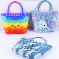Cat Christmas bolso Hand Bags Pop Fidget Toys Kids Pencil Cases Simple Dimple Push New Sensory Figet Toy Autism Antistress Game