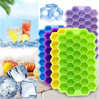 Snabb leverans 37 Ice Cubes Frozen Tools Hornet Nest Form Frozens Bricka Kub Silikon Mögel Bar Party Drinks Mögel Pudding Tool med lock CPA3415