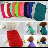 Supplies Home & Gardenpet T Summer Solid Fashion Top Shirts Vest Cotton Puppy Small Dog Clothes Pet Apparel Wx9-932 Drop Delivery 2021 N5Yur