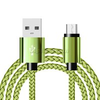 Micro USB Cables Metal Fast Data Charging Nylon Sync Mobile Phone Android Charger Cable For Samsung Sony HTC LG Android Type C Braided Wire 1m 2m 3m