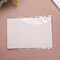 Sublimation Puzzle A5 Size DIY Products Sublimations Blanks Puzzles White Jigsaw 80pcs Heat Printing Transfer Handmade Gift HHB6695