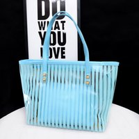 Summer leisure beach steamed buns mother bag middle bag single shoulder slung PVC jelly transparent women's bag C0505