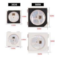 스트립 DC 5V 개별적으로 어드레싱 가능한 SK6812 미니 3535 SMD RGB LED 칩 디지털 픽셀 화이트 / 블랙 WS2812B와 동일