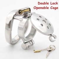CHASTE BIRD Double Lock Flip Glans Cover Chastity Device Male Openable Cock Cage Penis Ring SM Fetish Adult Sex Toys 210720