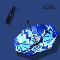 傘ヤダインのファッションシャインブルーアンブレラアンブブルー抗紫外線防雨太陽雨の折りたたみ防止パラソルデザイナーYD200004