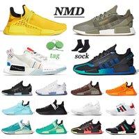 adidas NMD R1 V2 boost human race Original Sport Turnschuhe Männer Frauen Pharrell Williams Human Race Größe EUR 47 Hu Trail Running Schuhe menschlichen Rassen Trainer Männer