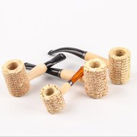 Corn Cob Pipe Disposable Natural Corncob Herb Tobacco Hammer Spoon Cigarette Filter Pipes Tools Accessories 4 Sizes Choose
