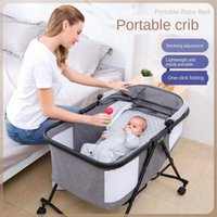 Movable Portable Baby Crib Cradle Mosquito Net Born Infant Bed Multifunction Shaker Cot With Wheel Cribs