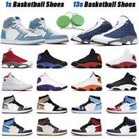 Erkekler Basketbol Ayakkabıları Jumpman 13s Flint 13 Siyah Kedi 1 Hiper Kraliyet Üniversitesi Mavi Gümüş Ayak Koyu Mocha 1s Erkek Spor Sneakers