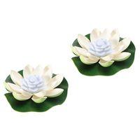 Dekorative Blumen Kränze 2 stücke Outdoor Lotus Lamps LED-Lichter lebendig Wishing Light