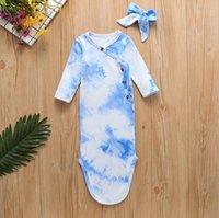طفل النوم الأكياس التعادل صبغ الطفل قماط بطانية رباطات 2PCS مجموعات طويلة الأكمام قطري مشبك أكياس النوم 5 تصاميم BT5932
