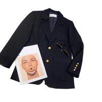 Brand women's winter jacket autumn coat fashion cotton slim fit personality top quality original design button jackets tassel plaid solid color windbreaker casual