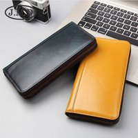 Wallets Brand Men And Women Genuine Leather RFID Long Zipper Large Capacity Holder Purse Phone Bag Clutch