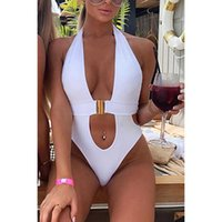 Bischan 2021 Deep V-ausschnitt Sexy Badeanzug Frauen Badebekleidung Monokini Trikini Schwarz Weiß Schwimmen Anzug Für Weibliche Hohe Taille Schwimmen Wear X0701