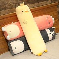 Cartoon Animal Dinosaur Pig Bunny Teddy Bear Husky Duck Plush Toys Stuffed Soft Long Sleep Pillow Doll Cushion Kids Girls Gift