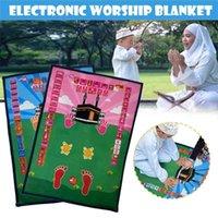 Nova Chegada Falando Praia Esteira Educacional Tapete Interativo Salah Muslim Kids Presente Islã Eletrônico Adoração Cobertor com Compasso 210402