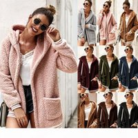 luxury women designer cardigan sweaters cardigans winter coats plush hooded hoodie coat warm sweater Outdoor womens clothes outwear jackets