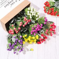 30cm 36 Heads Mini Rose Bud Artificial Silk Flowers Bunch We...