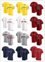 2021 시티 연결 저지 맞춤 남성 여성 청소년을 연결합니다보스턴빨간삭스50 Mookie Betts 59 Sam Travis 35 Matt Andriese 19 Jackie Bradley Jr. Baseball Jerseys