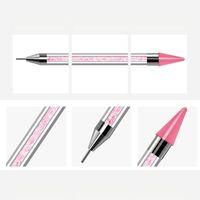 Colorful Art Eye Makeup Picker Dotting Pen Home Salon Nail Rhinestones Set Manicure Pick Up Tweezer Mix Sizes 3D Decoration Kits