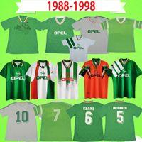 1988 1990 1992 1994 1996 레트로 아일랜드 축구 유니폼 홈 그린 멀리 화이트 88 90 94 96 아일랜드어 클래식 빈티지 축구 셔츠 Mcgrath D.Kelly Keane 유니폼 Houghton