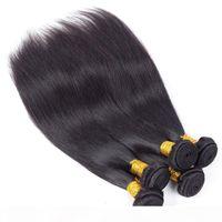 Норка бразильских прямых человеческих волос плетение пучков Новое поступление перуанских волос девственницы Wefts необработанные REMY Extensions только для вас