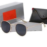 2021 Designer Ray Hommes Femmes pour lunettes de soleil Vintage Pilot Brand Band UV400 Protection Bans Ben Wayfarer Verres de soleil avec cas A3